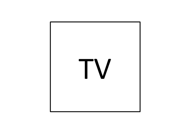 Television outlet, television outlet,